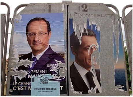 affiche-laceree-election-presidentielle-Sarkozy-Holland